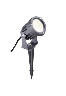 Fidel Spike Light, 1 x 15W LED, 3000K, 1050lm, 30º, IP65, Grey/Black