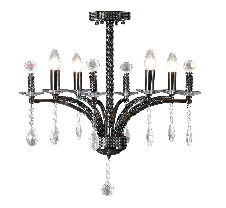 Fiore Ceiling Luminaire 4 Light Black Chrome/Crystal