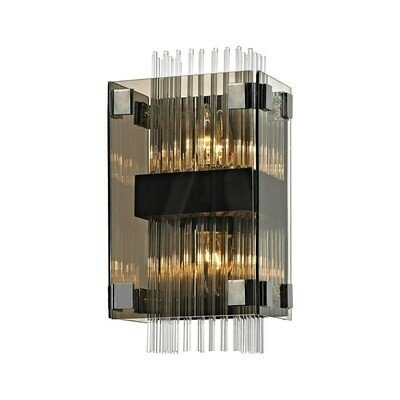 Apollo 2xE14 Wall Sconce bronze/polished chrome