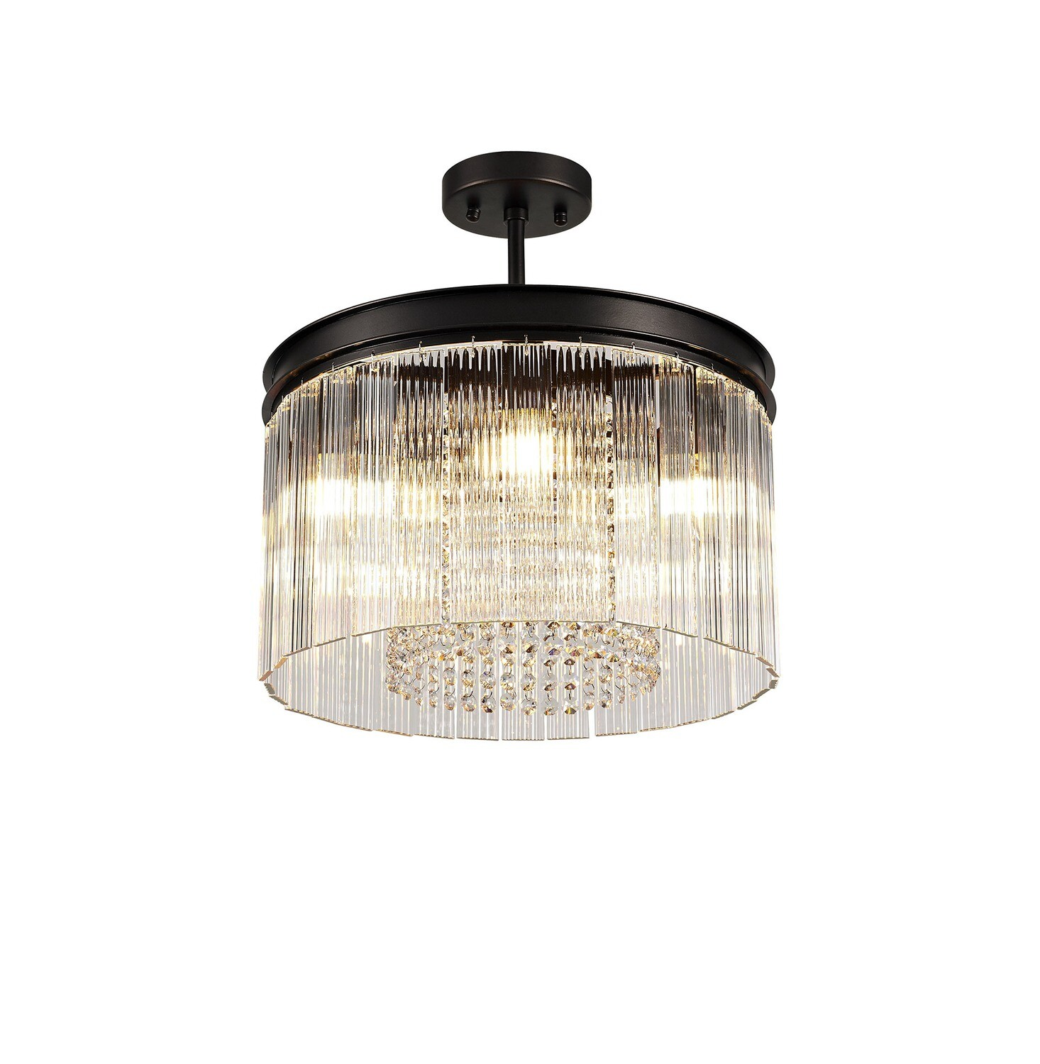 Amy Small Semi flush 5 Light E14, Brown Oxide