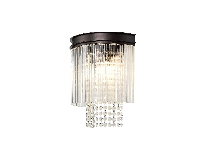 Amy Wall lamp 2 Light E14, Brown Oxide