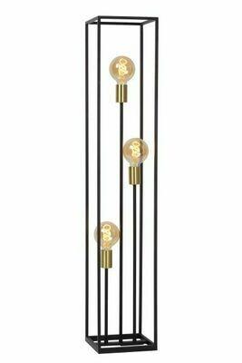 RUBEN Floor lamp 3xE27 Black/Matt-Gold Brass