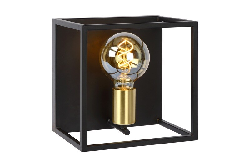 RUBEN Wall light 1xE27 Black/Matt-Gold Brass