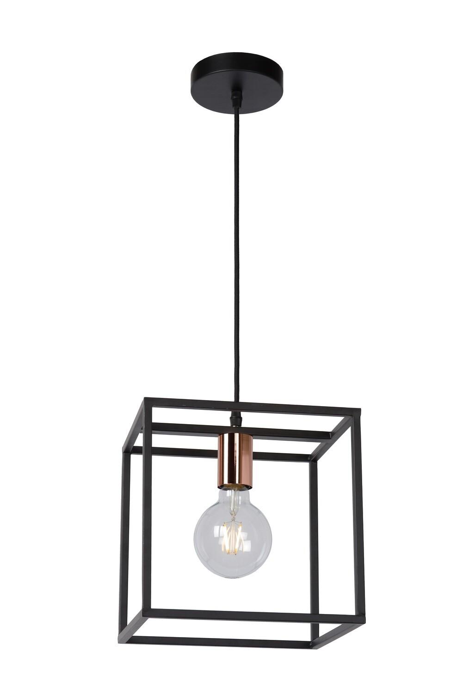 ARTHUR - Pendant light - 1xE27 - Black/Copper