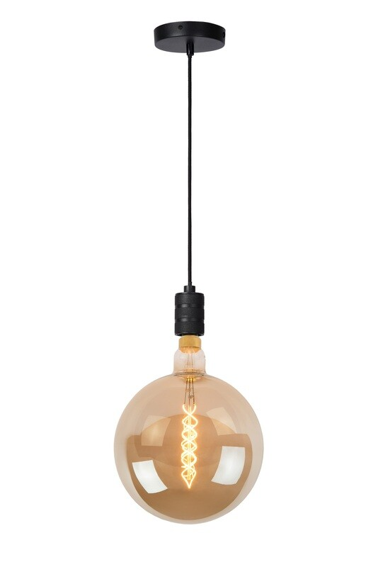JOVA Pendant E27 Black with Giant Filament Bulb dimmable