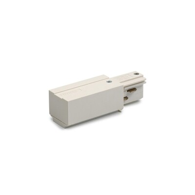 End Power Feed for IGLUX 3 phase 5-wire rail WHITE