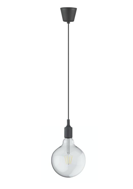 DREIFA BLACK silicone lampholder with filament Globe D125 8W 2700K
