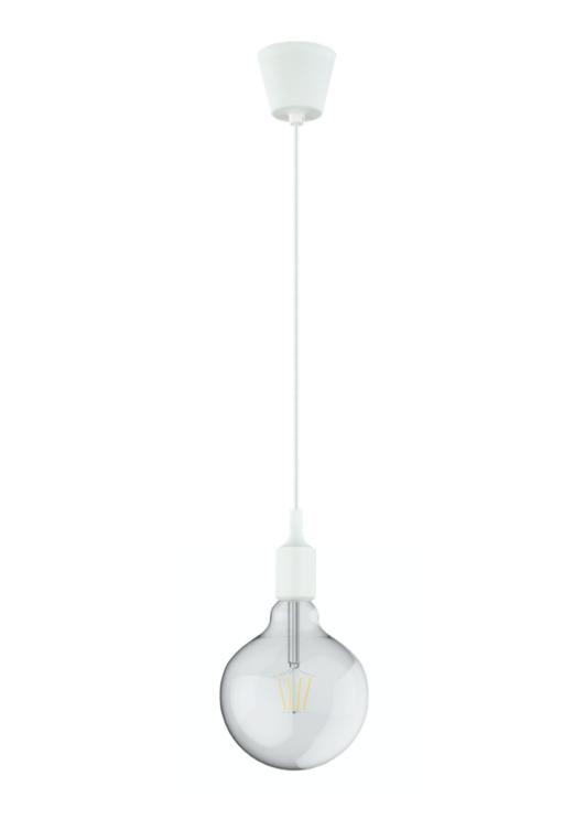 DREIFA WHITE silicone lampholder with filament Globe D125 8W 2700K