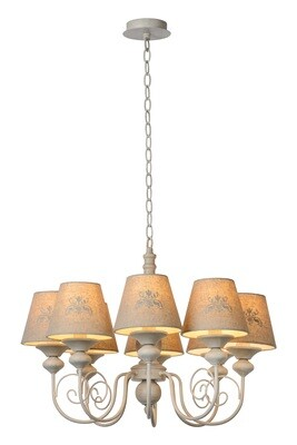 ROBIN Chandelier 8xE14 Shade Linen/Taupe