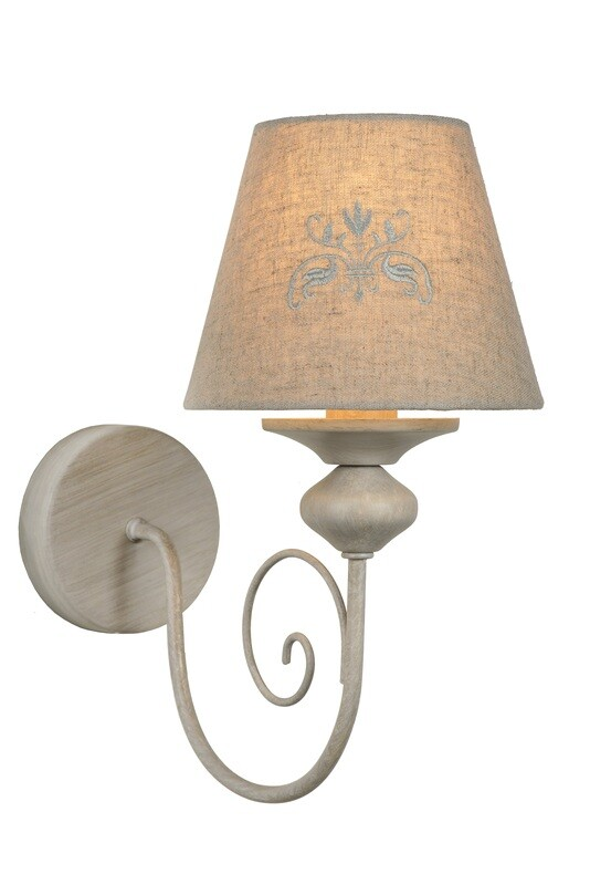 ROBIN Wall light  1xE14 Linen/Taupe