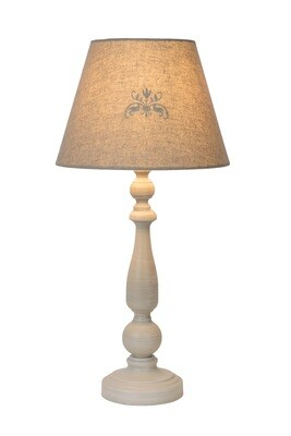 ROBIN Table lamp 1xE27 Linen/Taupe