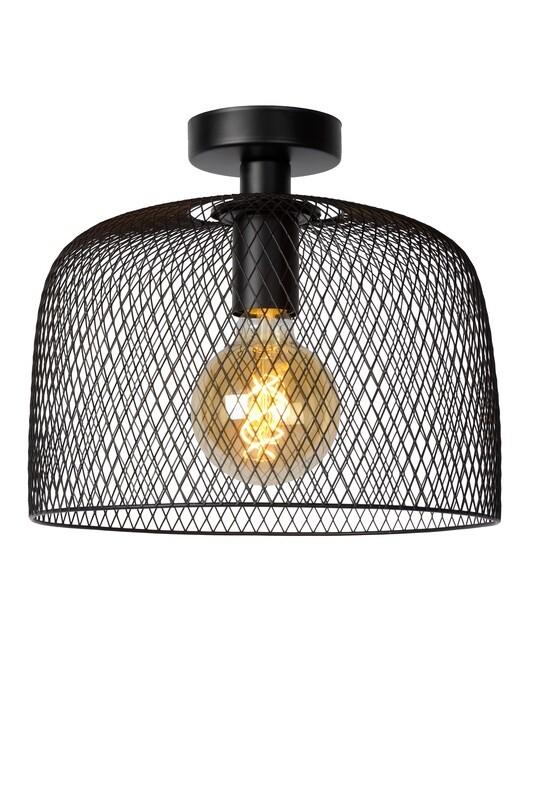 MESH Ceiling Light E27 Ø30cm H 26cm Black