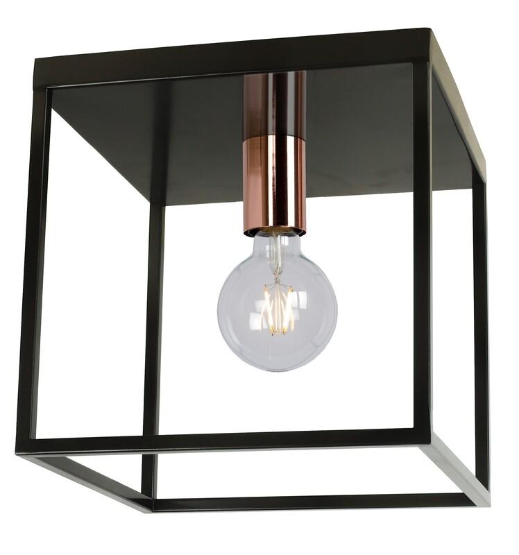 ARTHUR Ceiling Light E27 Black/Copper
