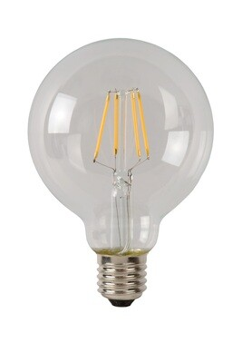 E27-LED filament Globe D95 5W 2700K (warm white) 550lm clear DIMMABLE