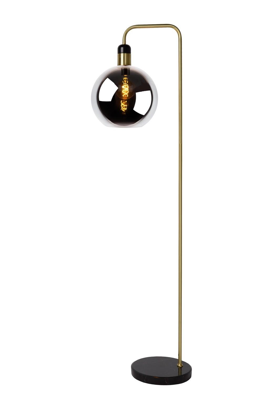 JULIUS Floor lamp E27/25W Smoke glass/ Back Marble