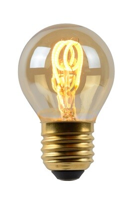 Vintage LED Ø4,5cm E27 DIMMABLE 230V 3W Warmwhite 2200K, 120lm, Amber Finish