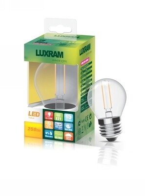 E27-LED filament-BALL 4 Watt 2700K (warm white) 470lm clear