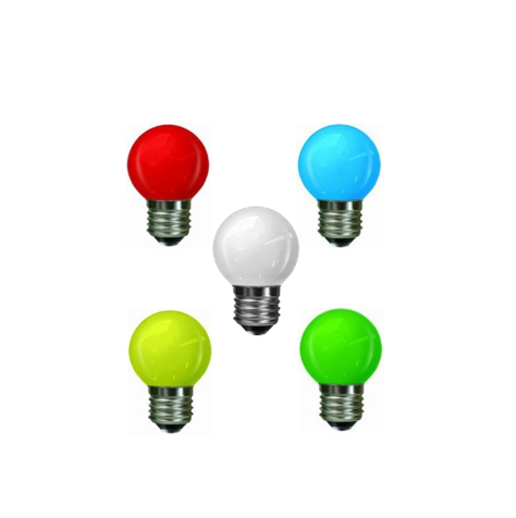 Decorative Multi-LED Ball E27 0.3W Yellow, Green, Red, Blue or White