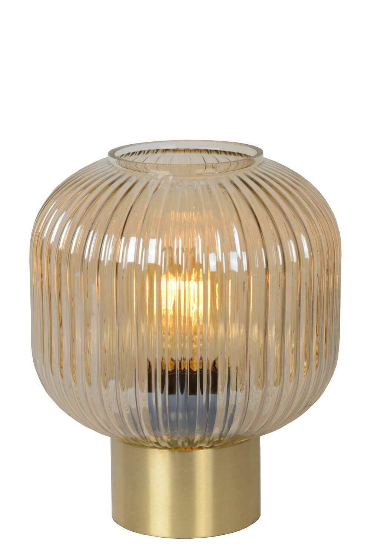 MALOTO Table lamp Ø20cm E27/40W Amber/Messing