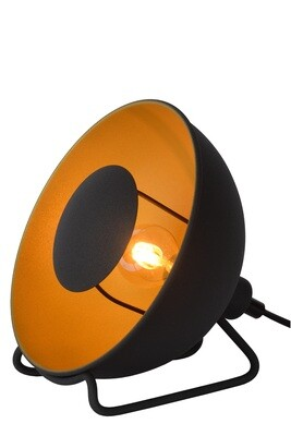 ALVARO Table lamp 1xE27 Ø31cm Black/Satin brass
