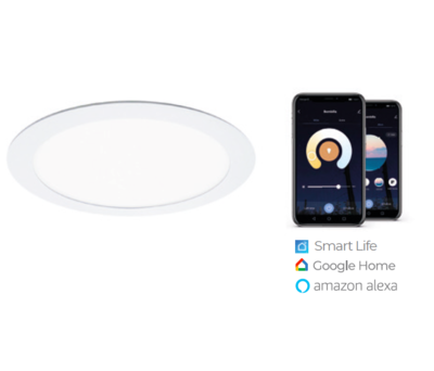 WIFI APP dimmable and tuneable LED downlight Ø240 20W White