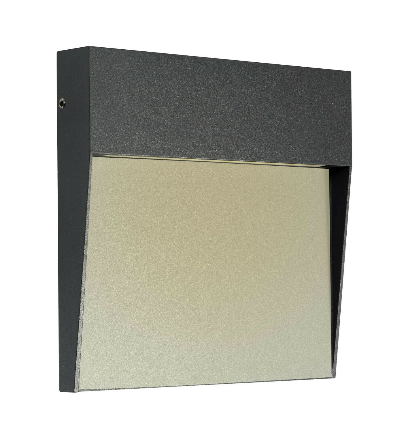 Baker Wall Lamp Large Square, 6W LED, 3000K, 266lm, IP54, Anthracite