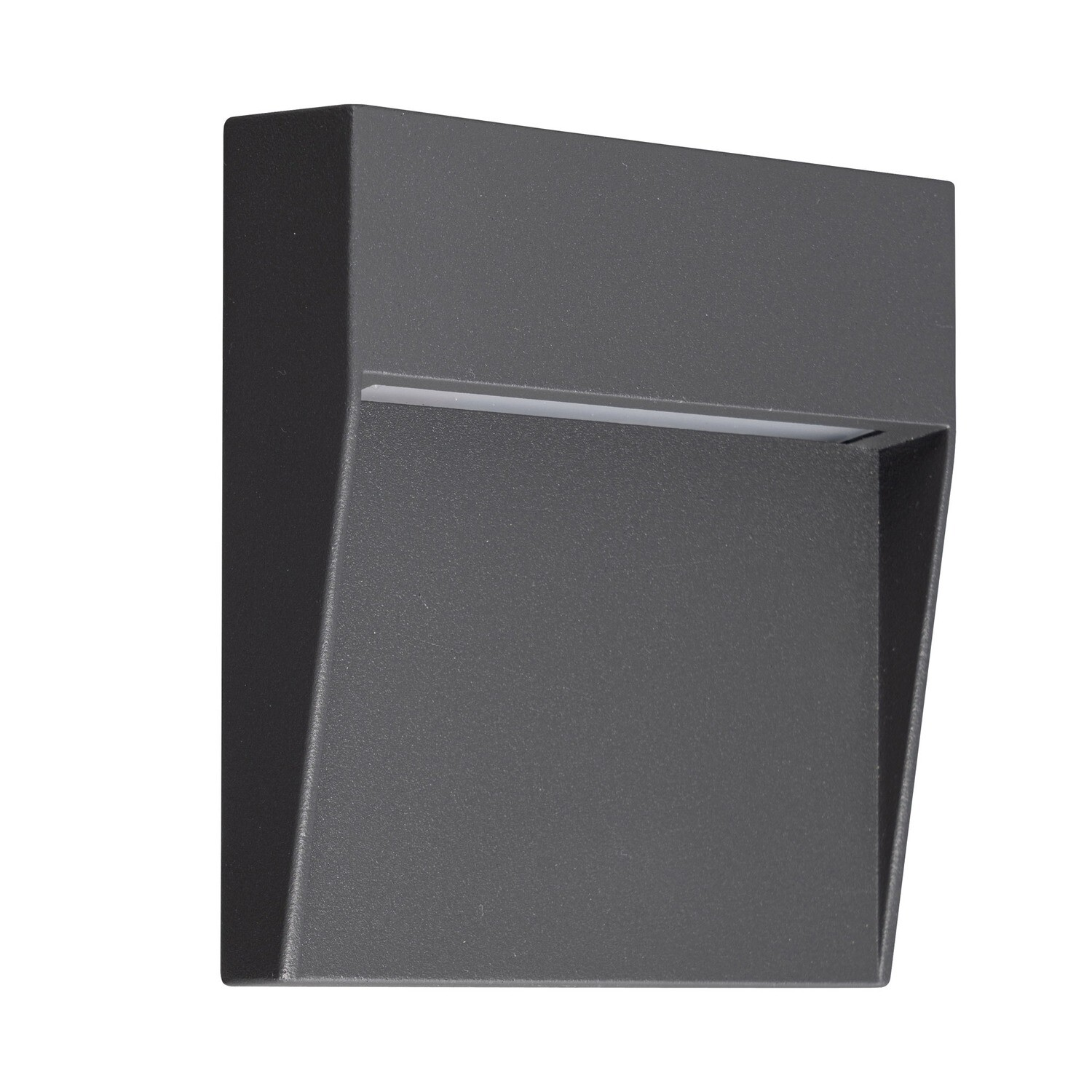 Baker Wall Lamp Small Square, 3W LED, 3000K, 150lm, IP54, Anthracite