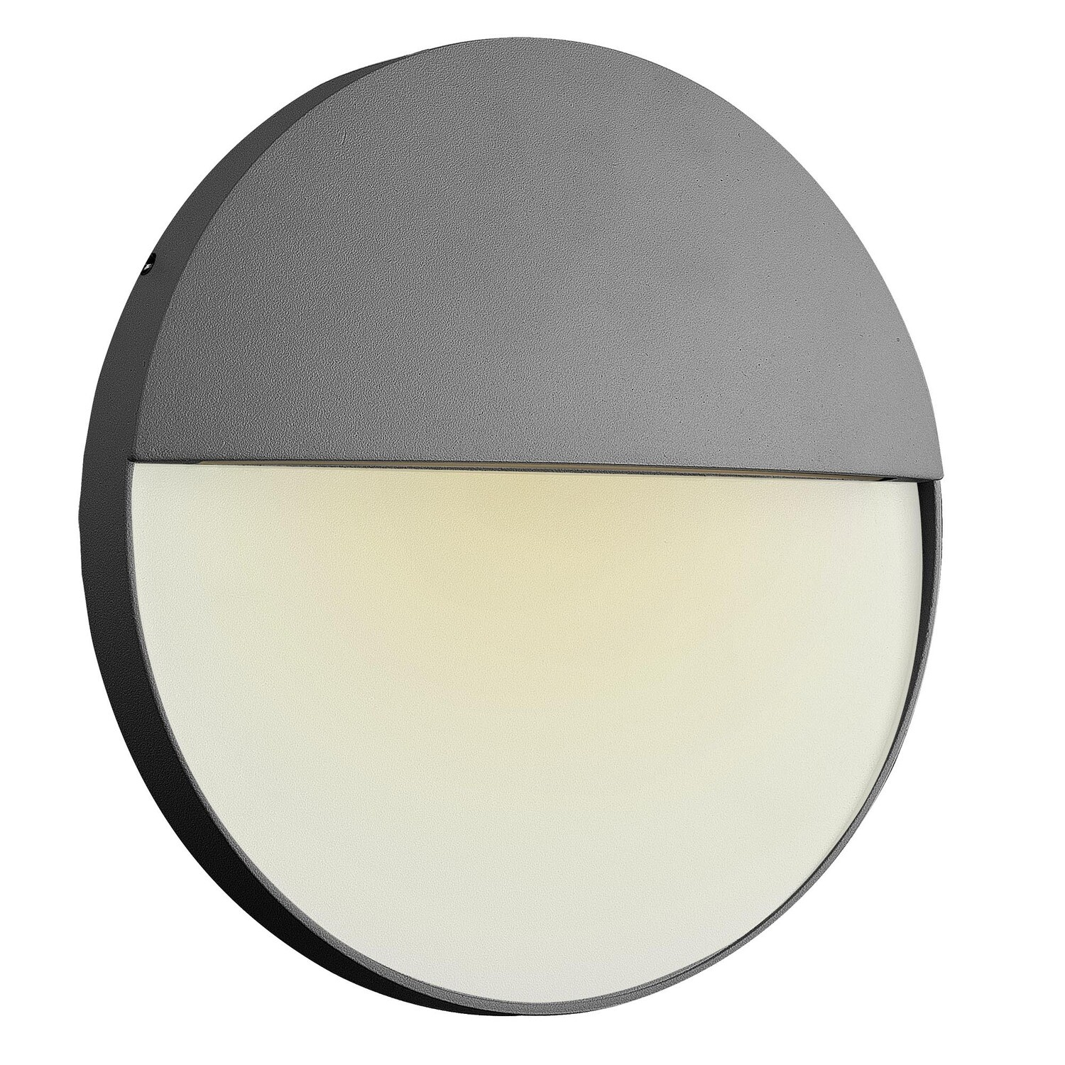 Baker Wall Lamp Large Round, 6W LED, 3000K, 275lm, IP54, Anthracite