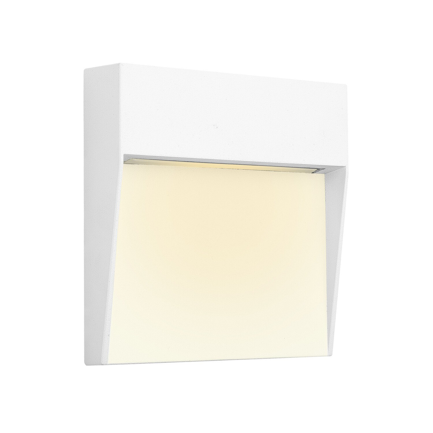 Baker Wall Lamp Small Square, 3W LED, 3000K, 150lm, IP54, White
