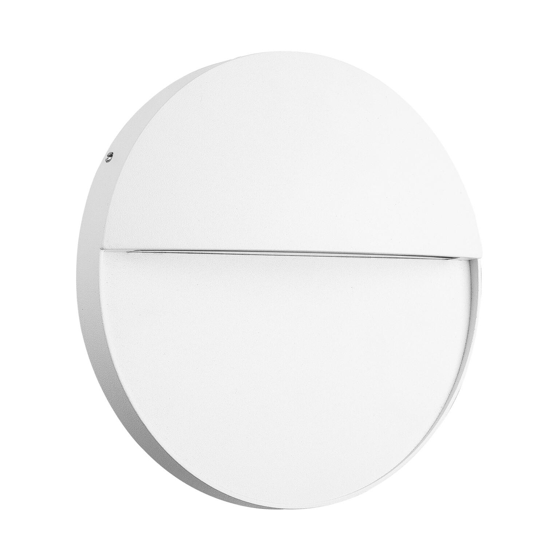 Baker Wall Lamp Large Round, 6W LED, 3000K, 275lm, IP54, White