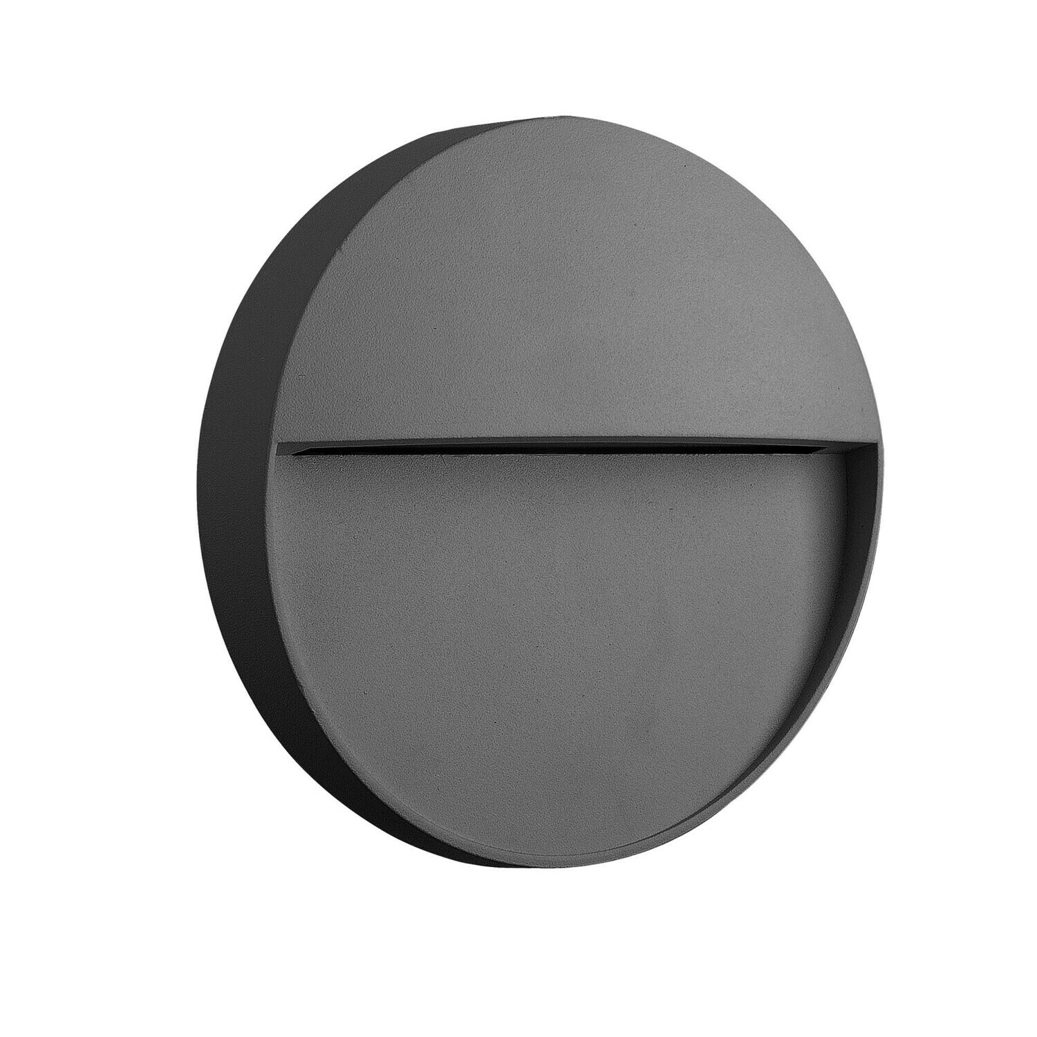 Baker Wall Lamp Small Round, 3W LED, 3000K, 150lm, IP54, Anthracite