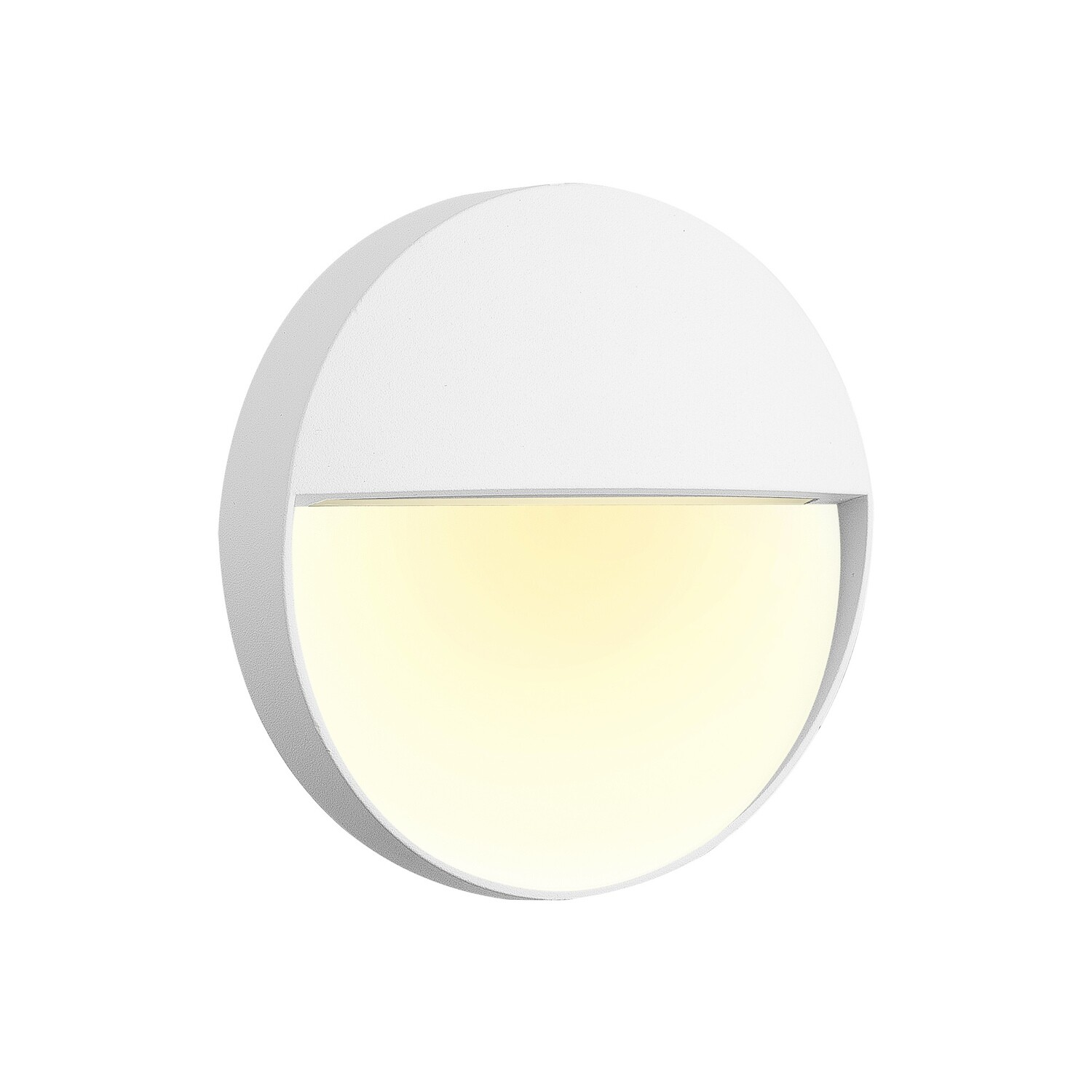 Baker Wall Lamp Small Round, 3W LED, 3000K, 150lm, IP54, White