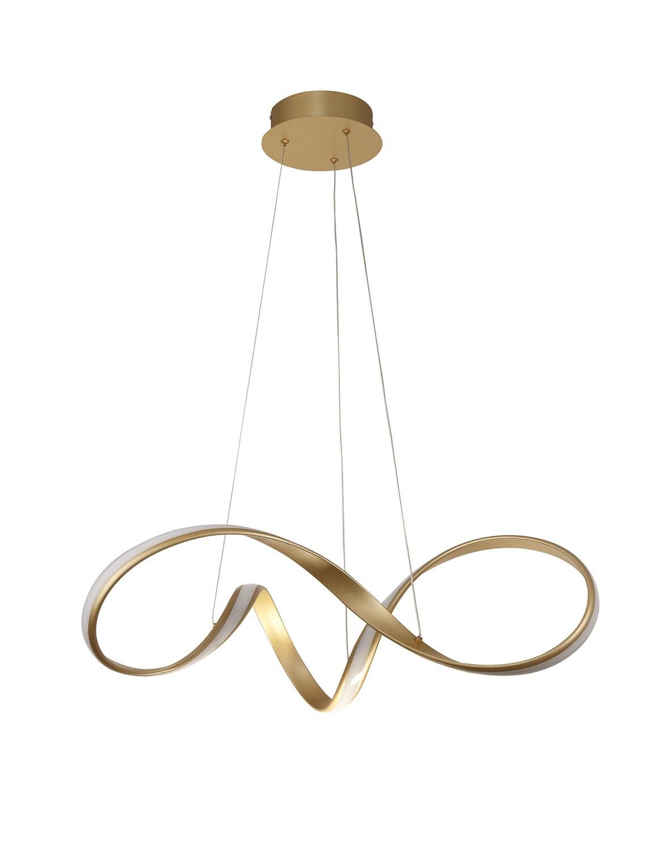 Tyler Medium Pendant, 1 x 39W LED, 3000K, 2152lm, Sand Gold