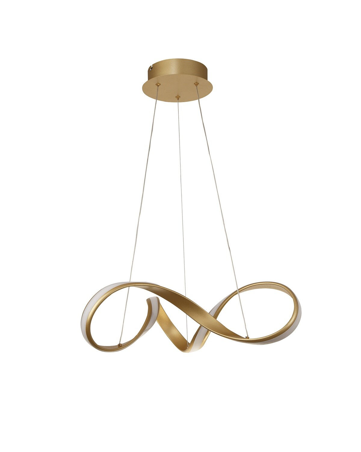 Tyler Small Pendant, 1 x 30W LED, 3000K, 1800lm, Sand Gold