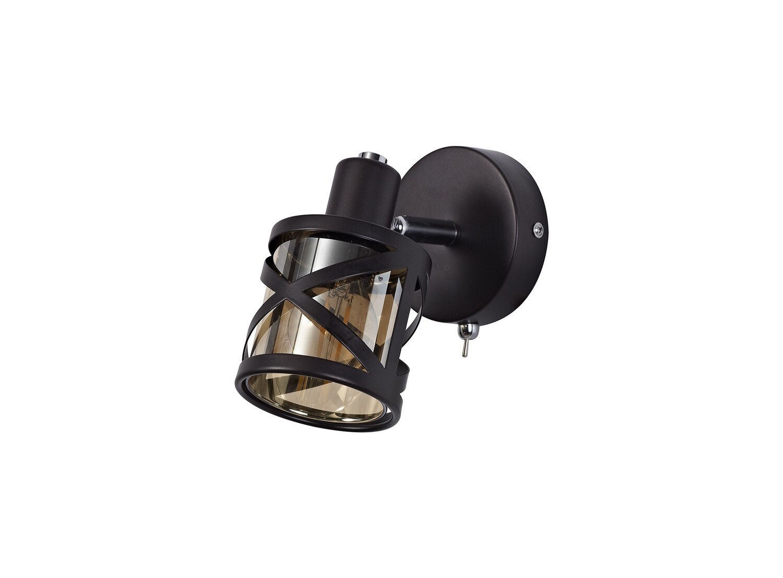 Bunji 1 Light Spotlight E14, Oiled Bronze/Polished Chrome/Amber