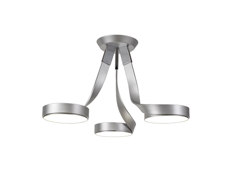 Santti 3 Light Semi Ceiling, 3 x 12W LED, 3000K, 2880lm, Silver/Polished Chrome