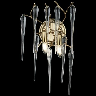 ABRANTES  2 LIGHT GOLDEN WALL LAMP