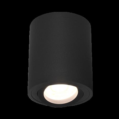 POISE Ceiling Light Round GU10  D8 H9.5cm Black