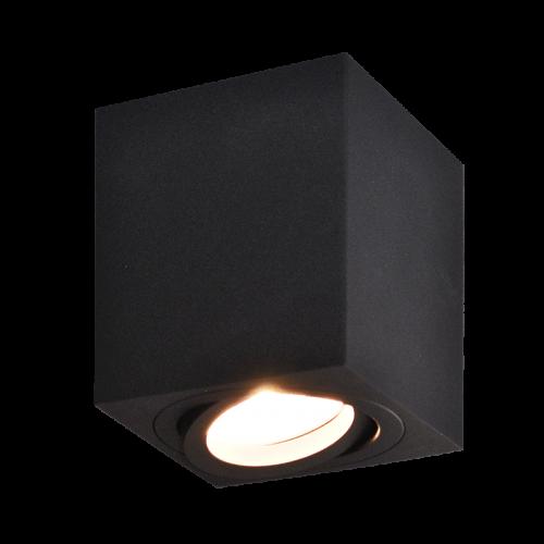 POISE Ceiling Light Squre GU10 8x8 H9.5cm Black