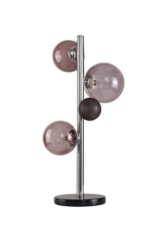 Despina Table Lamp 3 x G9, Polished Chrome, Smoked Glass