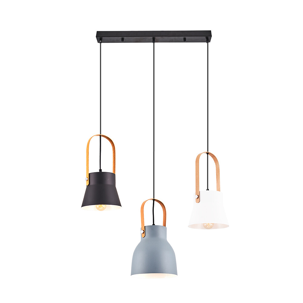 Fiatolo linear pendant lamp 3xE27