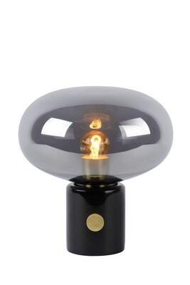 CHARLIZE Table lamp 1xE27 Smoke grey glass/Black marble