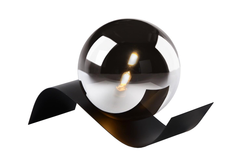 YONI Table lamp 1xG9 H12cm Black / Smokey Glass