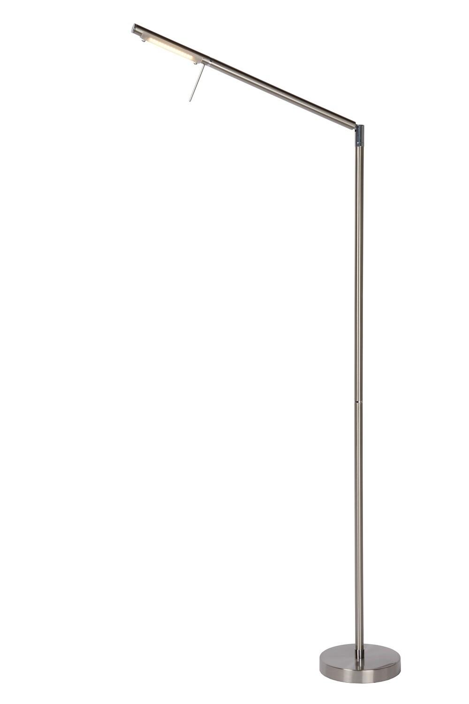 BERGAMO-LED Floor Lamp 6W 3000K dimmable Satin Chrome