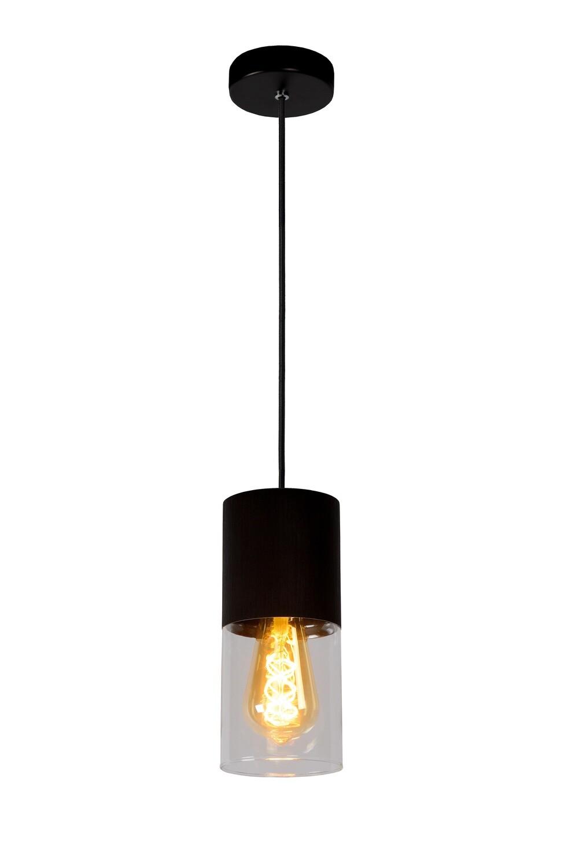 ZINO Pendant Ø10cm 1xE27 Rust Brown/ Clear Glass