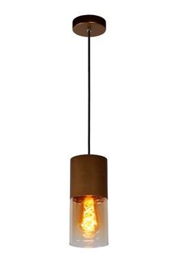 ZINO Pendant Ø10cm 1xE27 Copper / Amber