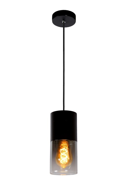 ZINO Pendant 1xE27 Black/ Smoke Grey