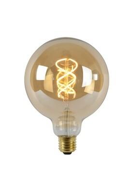 Vintage LED Globe D125 E27 230V 5W 2200K Amber DIMMABLE