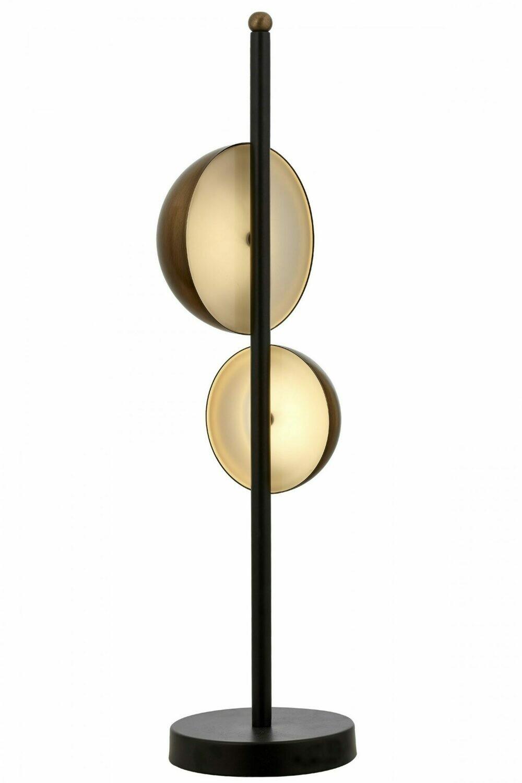 9113 Black Painted Table Lamp E14 Metal Plexiglass 15cm