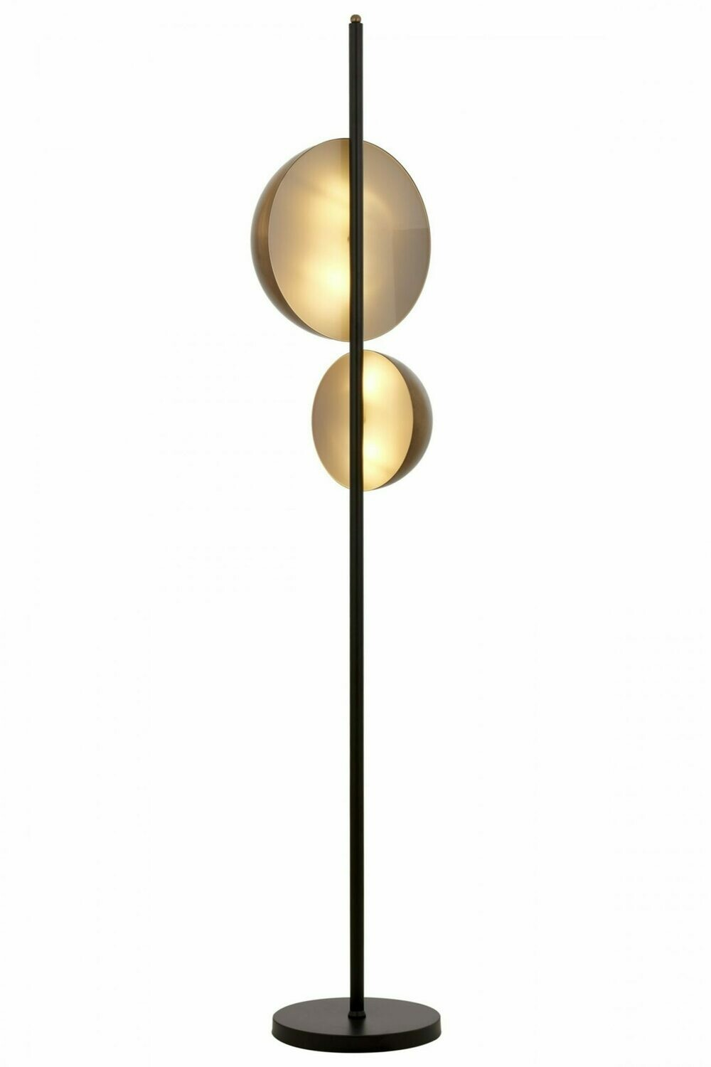 9113 Black Painted Floor Lamp E14 Metal Plexiglass 36cm